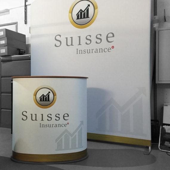 Signaletique stand promotionnel suisse insurance